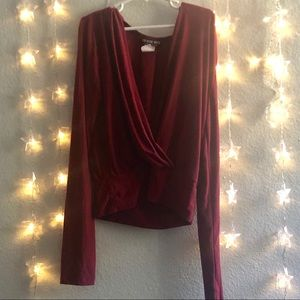 😍😍🌹Burgundy Long sleeve blouse